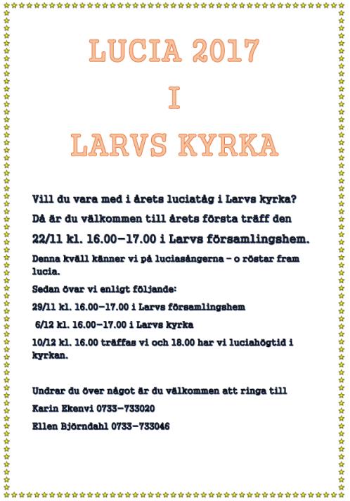 Lucia 2017 i Larvs kyrka 498X712